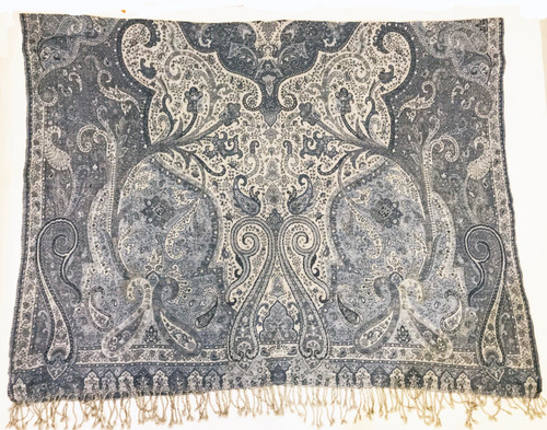 """Handwoven Boiled Wool Throw Grey India (54"""" x 80"""")"""