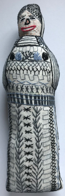 "Handmade Embroidered Doll 8 Guatemala (10"")"