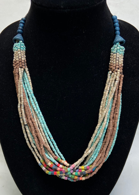Handmade Ceramic Bead Necklace  Guatemala