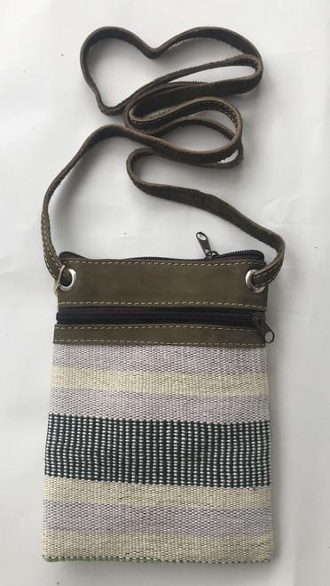 "Cross Shoulder Zipper Pouch Purse 2 Guatemala (5.5"" x 7.5"")"