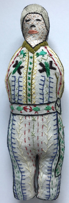 "Handmade Embroidered Doll 12 Guatemala (10"")"