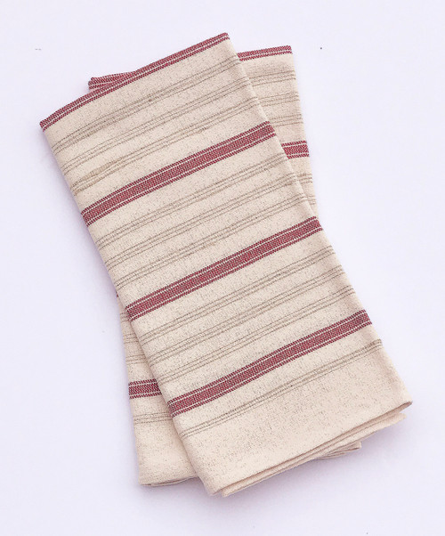 "Handwoven Cotton Hand Towel set of 2 Hungary (21"" x 22"")"