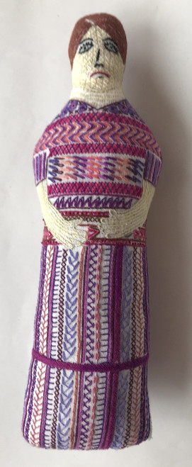 "Handmade Embroidered Doll C Guatemala (10"")"
