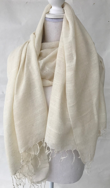 "Cruelty Free Silk Hand Spun Hand Woven Scarf India (36"" x 78"")"