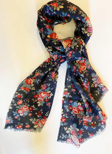 "Lightweight Wool Printed  Scarf India (27"" x 72"")"