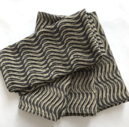 Hand Block Printed Natural Dyed Cotton Napkins 3 India taupe wheat natural grey