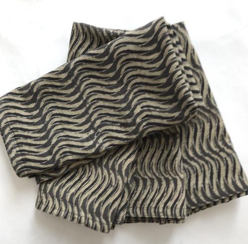 Hand Block Printed Natural Dyed Cotton Napkins 3 India taupe wheat natural grey