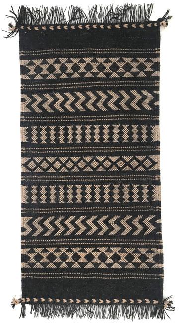 "Handwoven Camel Yarn Rug Natural Fleece Colors India (25"" x 60"")"