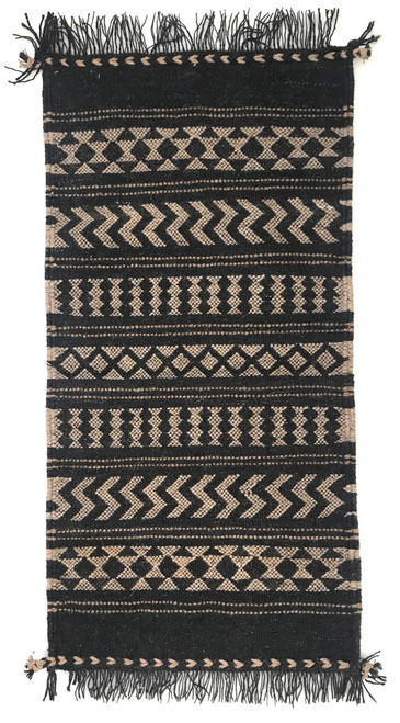 "Handwoven Camel Yarn Rug Natural Fleece Colors India (25"" x 60"")"