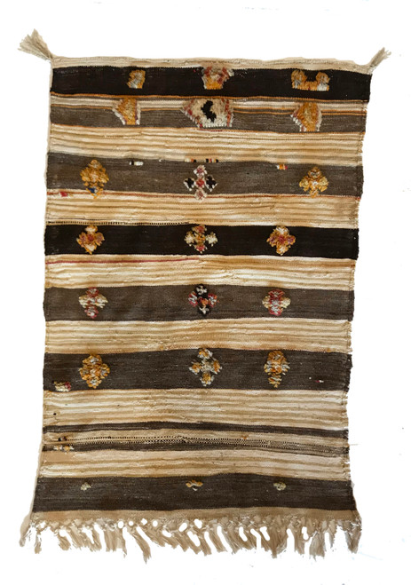 """Handwoven and Hand Knotted Glaoui Wool Rug Morocco (29"""" x 42"""")"""