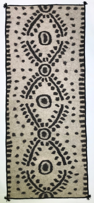 "Handmade Wool Felt  Runner Rug Afghanistan (30"" x 72"")"