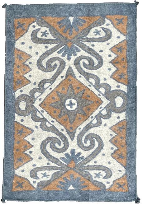 "Handmade Wool Felt  Kaitag Rug Afghanistan (48"" x 72"")"