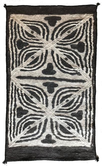 """Handmade Wool Felt  Clover Rug Afghanistan (36"""" x 60"""")"""