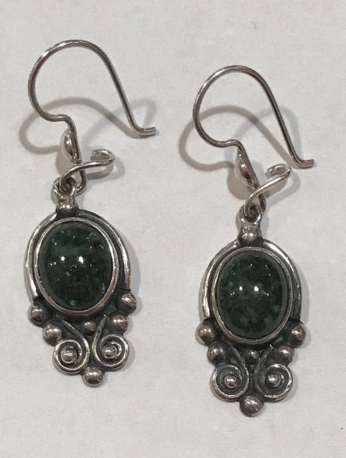 Handmade Jade Earrings Guatemala (1.25drop)