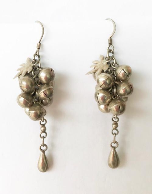 """Handmade Vintage Silver  Earrings 2 Morocco (1.75"""" L x .6""""W)"""