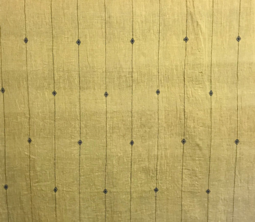 Handwoven Organic Cotton Natural Dyed Fabric India Mustard Indigo