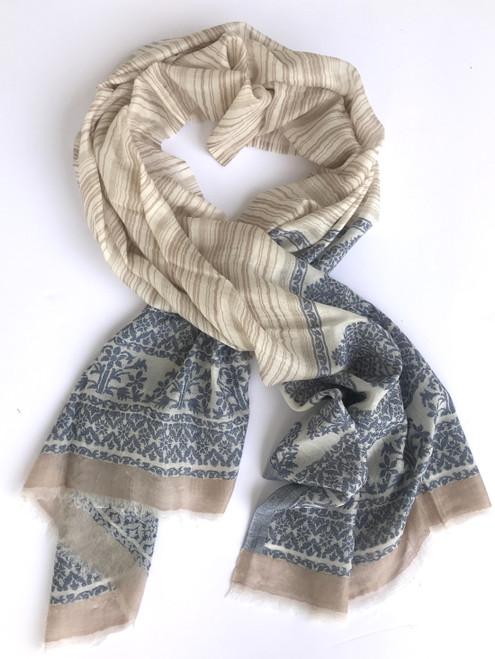 """Pashmina fine wool  Scarf or Shawl India (30"""" x 80"""")"""