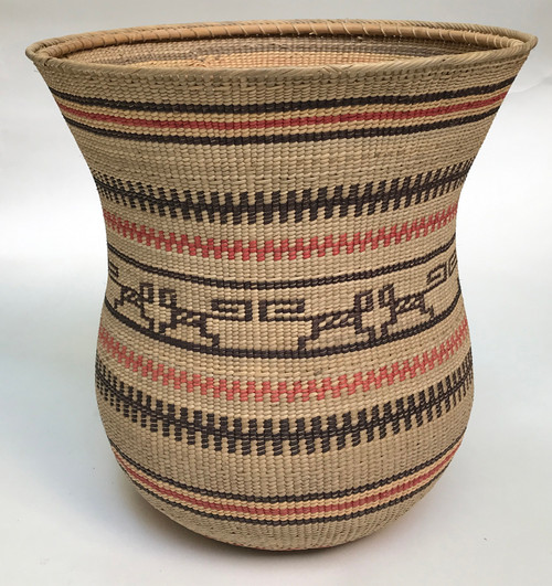 "Handmade Natural Fiber Ye'kwana Basket Venezuela 7 (10.5"" T x 12.5""W)"
