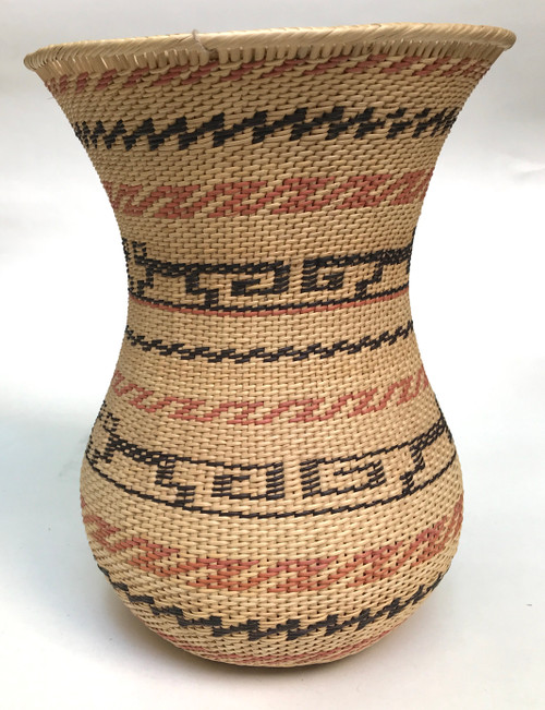 "Handmade Natural Fiber Ye'kwana Basket Venezuela 9 (9"" T x 7""W)"