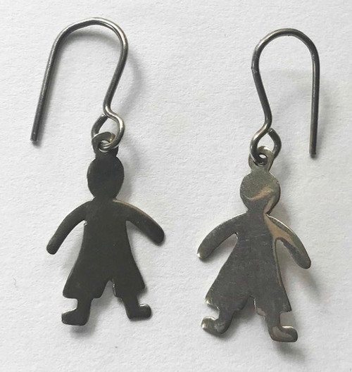 "Handmade Silver Earrings Chile (1.25"" x .5"")"