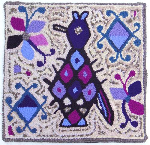"""Handmade Hooked Pillow Cover by Rosario Guatemala (16"""" x 16"""")"""