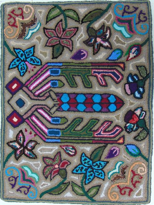 "Handmade Hooked Medium Rug by Bartola Guatemala (24"" x 32"")"