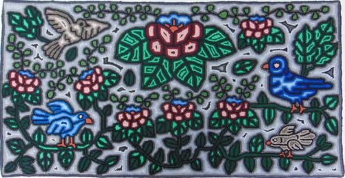 "Handmade Large Hooked Rug by Lidia Guatemala (24"" x 48"")"