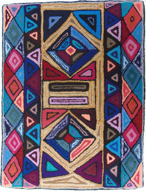 "Handmade Hooked Medium Rug by Virginia 2  Guatemala (24"" x 32"")"