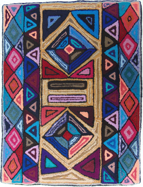 "Handmade Hooked Medium Rug by Virginia 2  Guatemala (24"" x 32"")"