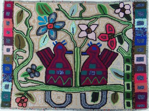 "Handmade HookedMedium Rug by Silvia Guatemala (24"" x 32"")"