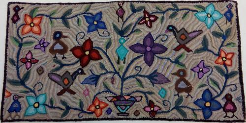 "Handmade Large Hooked Rug by Carmen 2 Guatemala (24"" x 48"")"