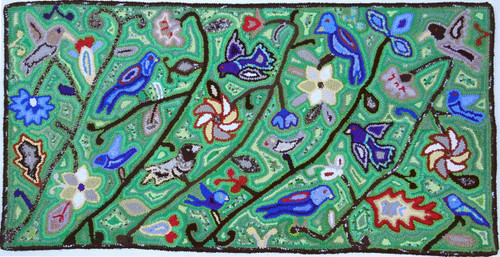"Handmade Large Hooked Rug by Rosario Guatemala (24"" x 48"")"