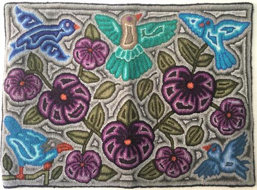 "Handmade Hooked Medium Rug by Imelda Guatemala (24"" x 32"")"