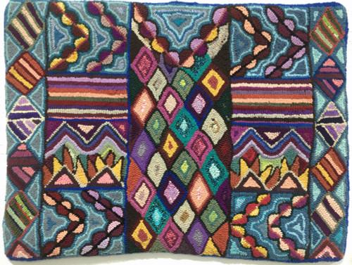 "Handmade Hooked Medium Rug by Irma Elizabeth Guatemala (24"" x 32"")"