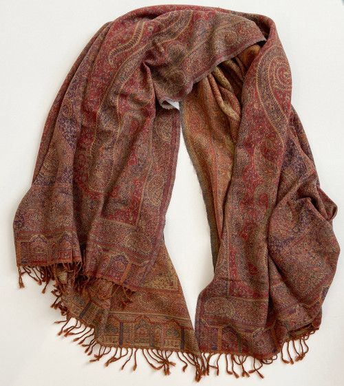 """Handwoven Boiled Wool Throw A India (54"""" x 80"""")"""