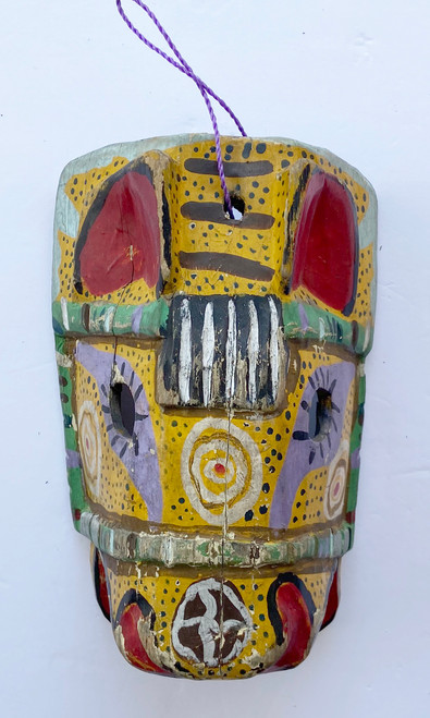 """Wooden Hand Carved Horse Mask  Guatemala (6""""w x 9""""t)"""