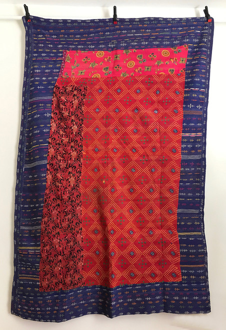 "Hand Stitched Embroidered Saami Quilt 2 India  (62"" x 86"")"