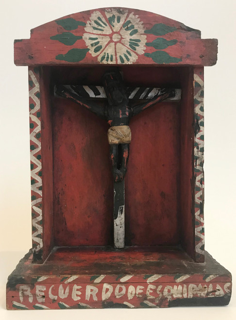 "Vintage Escaparate Saint Display Box  Guatemala (10.5""x 14.5"")"