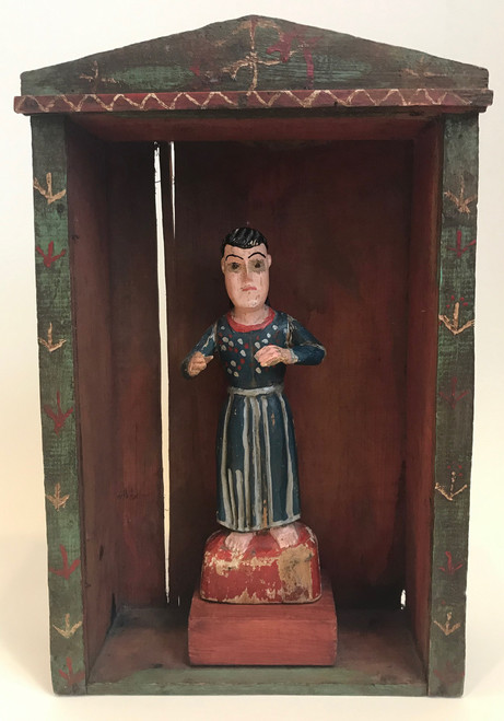 "Vintage Escaparate Saint Display Box 2 Guatemala (12""x 19"")"