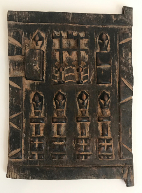 "Vintage Hand Carved Wooden Door Morocco (8"" x 11"")"