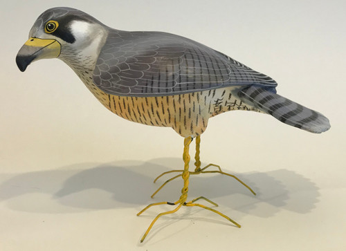 "Peregrine Falcon Painted Ceramic Bird Guatemala (10"" x 7"")"