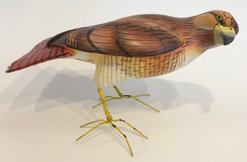 Red Tail Hawk Ceramic Bird Guatemala