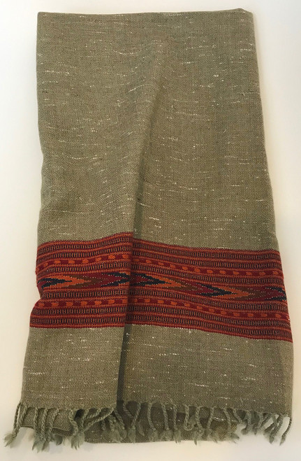 "Handwoven Yak and Merino Wool Throw India (36"" x 84"")"