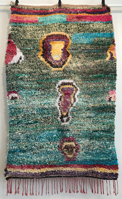 "Handwoven Boucherouite Rug  Morocco (40"" x 62"")"