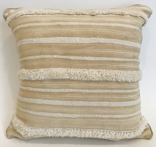 "Handwoven Wool and Cotton Pillow Morocco (18"" x 18"")"