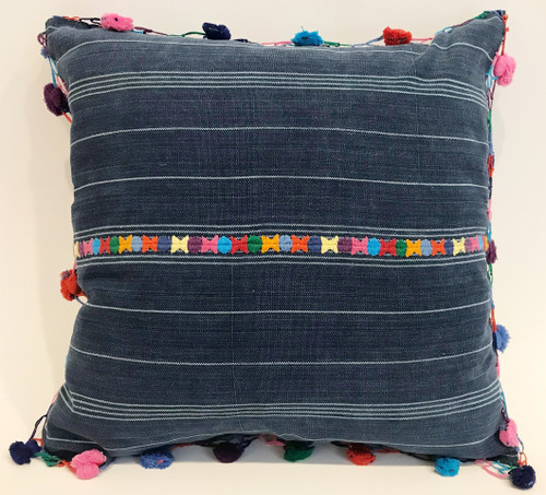 "Handwoven Traditional Cloth Pillow Guatemala (18"" x 18"")"
