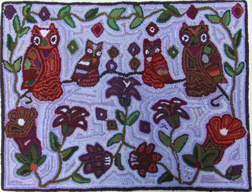 "Handmade Hooked Medium Rug by Leandra Guatemala (24"" x 32"")"