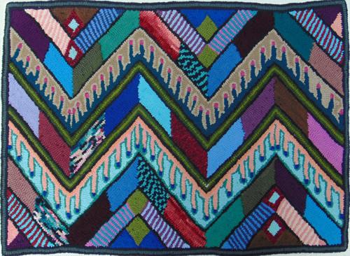 "Handmade Hooked Medium Rug by Bartola  2 Guatemala (24"" x 32"")"