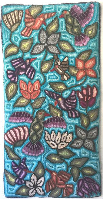 """Handmade Large Hooked Rug by Irma Elizabeth Guatemala (24"""" x 48"""")"""