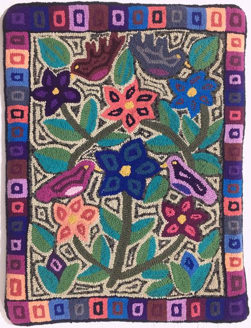 "Handmade Hooked Medium Rug by Virginia  Guatemala (24"" x 32"")"